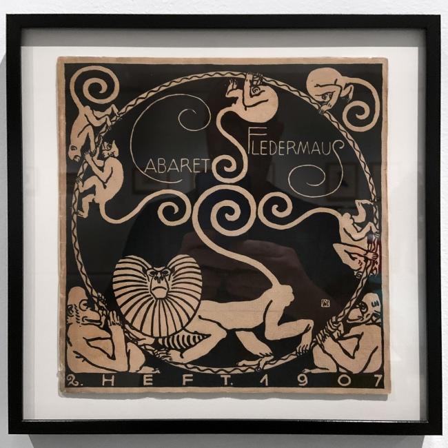 Carl Otto Czeschka (design) Second programme for the Cabaret Fledermaus (installation view) 1907