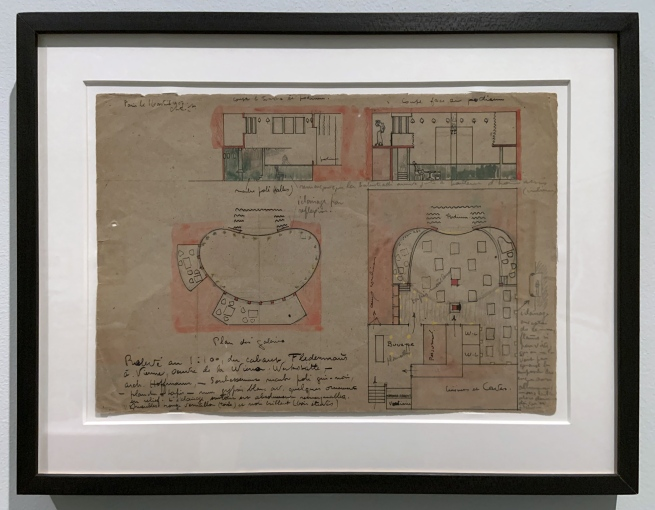 Le Corbusier. 'Plan at 1:100 for the Cabaret Fledermaus' 1907 (installation view)