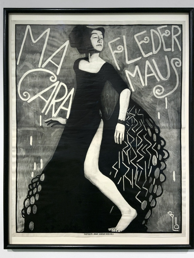 Bertold Löffler. Poster for a performance by Miss Macara at the Cabaret Fledermaus 1909