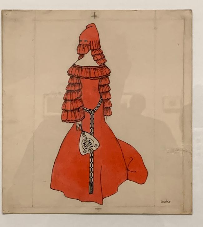 Josef von Divéky. Design for 'Orange Domino'for the Cabaret Fledermaus 1908 (installation view)