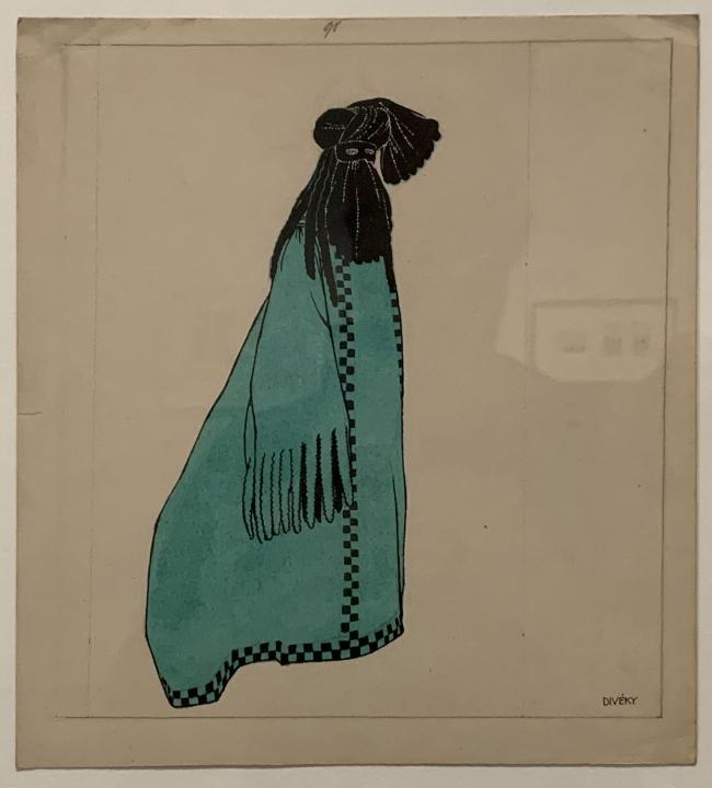 Josef von Divéky. Design for 'Green Domino'for the Cabaret Fledermaus 1908 (installation view)