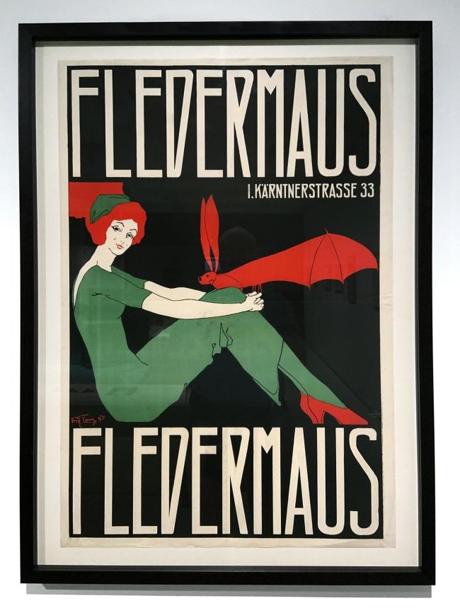 Fritz Lang. Poster for the Cabaret Fledermaus 1911 (installation view)