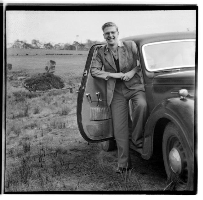 Unknown photographer (Australian) 'Untitled (Man and car)' 1946-47
