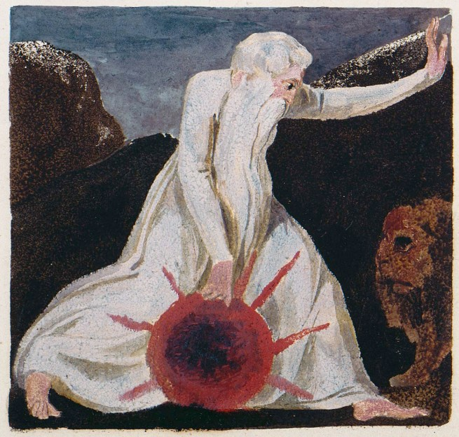 William Blake (British, 1757-1827) 'A Small Book of Designs copy A object 7 The First Book of Urizen plate 23' 1796