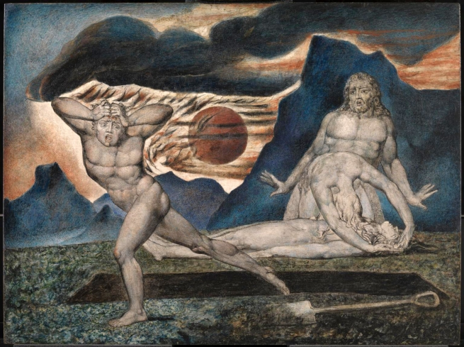 William Blake (British, 1757-1827) 'The Body of Abel Found by Adam and Eve' c. 1826