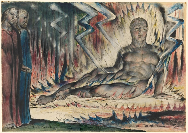 William Blake (British, 1757-1827) 'Capaneus the Blasphemer' 1824-1827