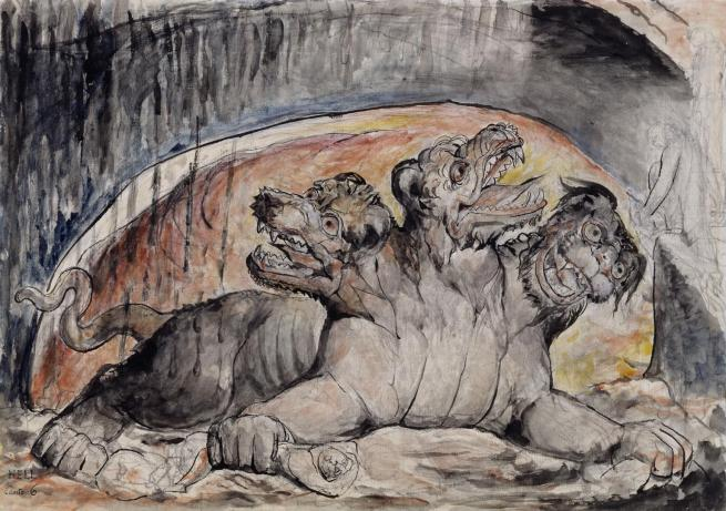 William Blake (British, 1757-1827) 'Cerberus' (from Illustrations to Dante's 'Divine Comedy') 1824-7