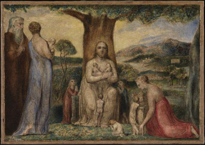 William Blake (British, 1757-1827) 'Christ Blessing the Little Children' 1799