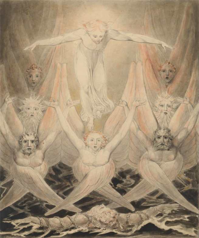 William Blake (British, 1757-1827) 'David Delivered out of Many Waters' c. 1805