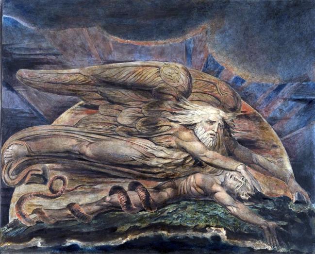 William Blake (British, 1757-1827) 'Elohim Creating Adam' 1795 - c. 1805
