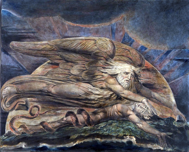 William Blake (British, 1757-1827) 'Elohim Creating Adam' 1795 - c. 1805