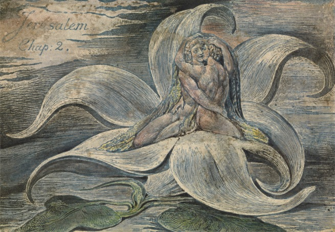 William Blake (British, 1757-1827) 'Jerusalem', plate 28, proof impression, top design only 1820
