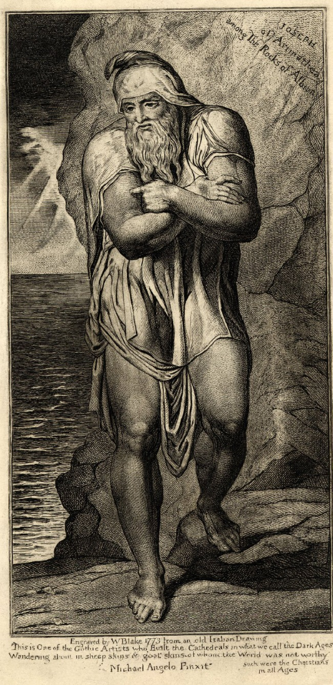 William Blake (British, 1757-1827) 'Joseph of Arimathea among the Rocks of Albion' c. 1810