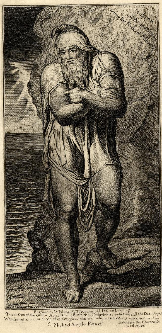 William Blake (British, 1757-1827) 'Joseph of Arimathea among the Rocks of Albion' c. 1810