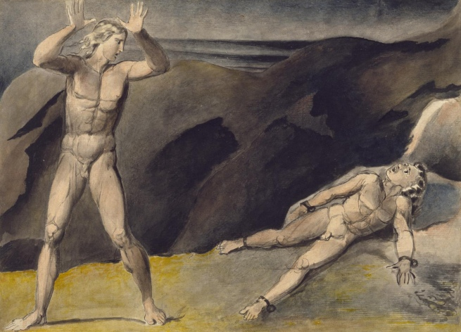 William Blake (British, 1757-1827) 'Los and Orc' c. 1792-3