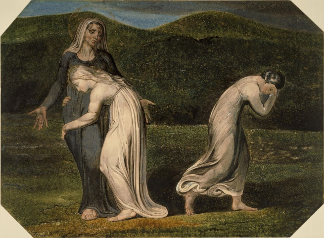 William Blake (British, 1757-1827) 'Naomi Entreating Ruth and Orpah to Return to the Land of Moab' c. 1795