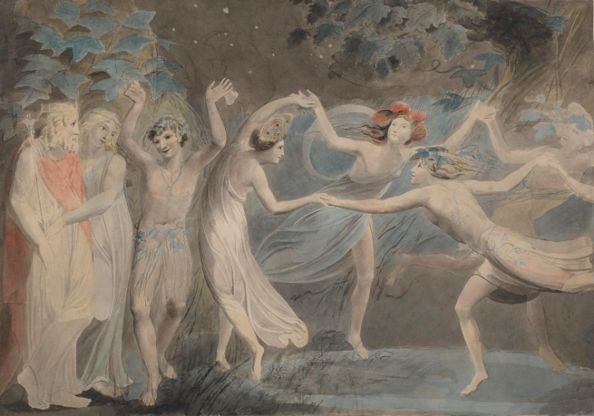 William Blake (British, 1757-1827) 'Oberon, Titania and Puck with Fairies Dancing' c. 1786