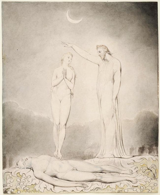 William Blake (British, 1757-1827) Illustrations to Milton's 'Paradise Lost' Plate 8: 'The Creation of Eve' (Thomas set) 1807