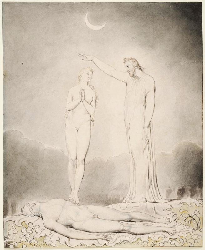 William Blake (British, 1757-1827) Illustrations to Milton's 'Paradise Lost' Plate 8: 'The Creation of Eve' (Thomas set) 1807