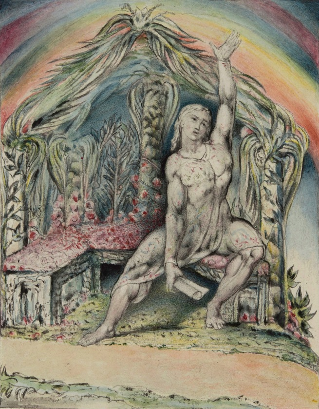 William Blake (British, 1757-1827) 'Christian in the Arbour' 1824-7
