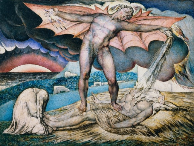 William Blake (British, 1757-1827) 'Satan Smiting Job with Sore Boils' c. 1826