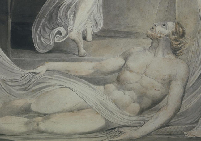 William Blake (British, 1757-1827) 'The Angel Rolling away the Stone' (detail) c. 1805