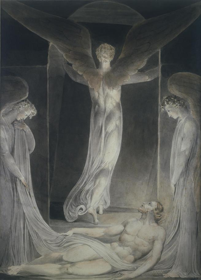 William Blake (British, 1757-1827) 'The Angel Rolling away the Stone' c. 1805