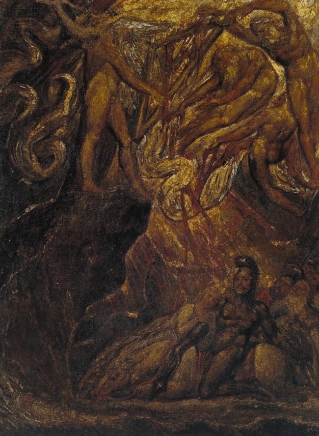 William Blake (British, 1757-1827) 'The Bard, from Gray' ? 1809