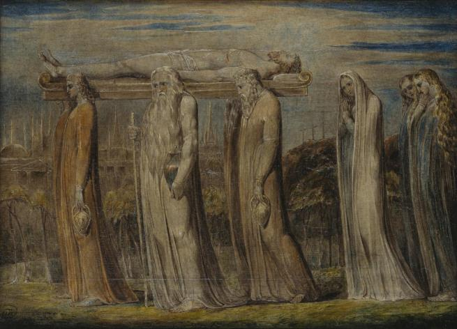 William Blake (British, 1757-1827) 'The Body of Christ Borne to the Tomb' c. 1799-1800