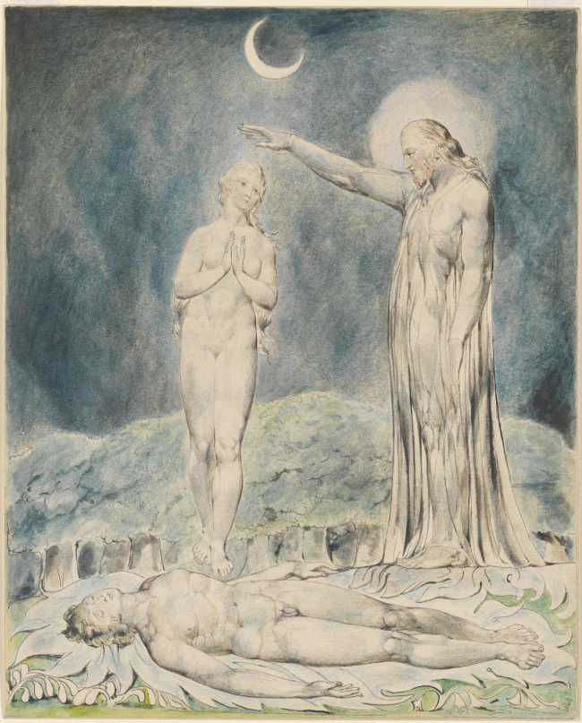 William Blake (British, 1757-1827) 'The Creation of Eve' 1822