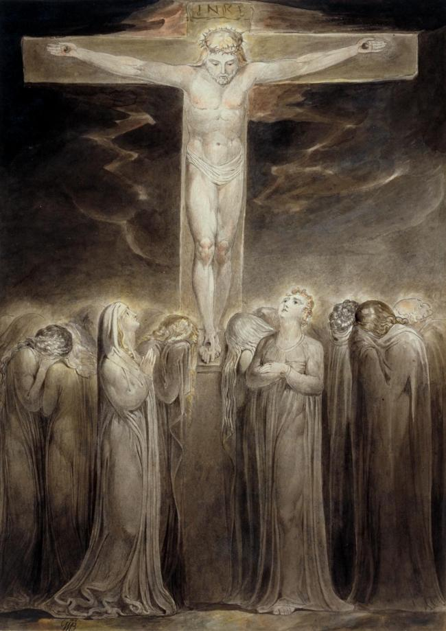 William Blake (British, 1757-1827) The Crucifixion: 'Behold Thy Mother' c. 1805