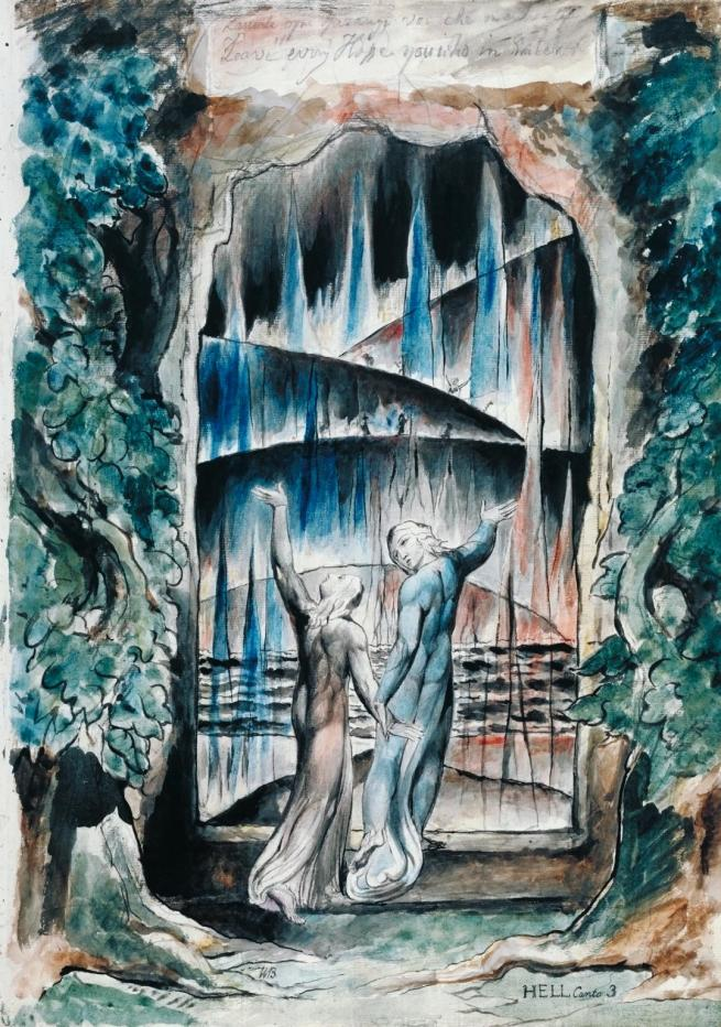 William Blake (British, 1757-1827) 'The Inscription over the Gate' 1824-7