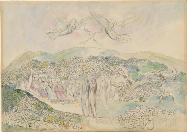 William Blake (British, 1757-1827) 'The Lawn with the Kings and Angels' 1824-7