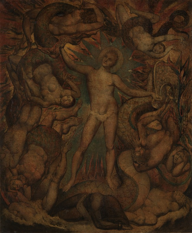 William Blake (British, 1757-1827) 'The Spiritual Form of Nelson Guiding Leviathan' c. 1805-9