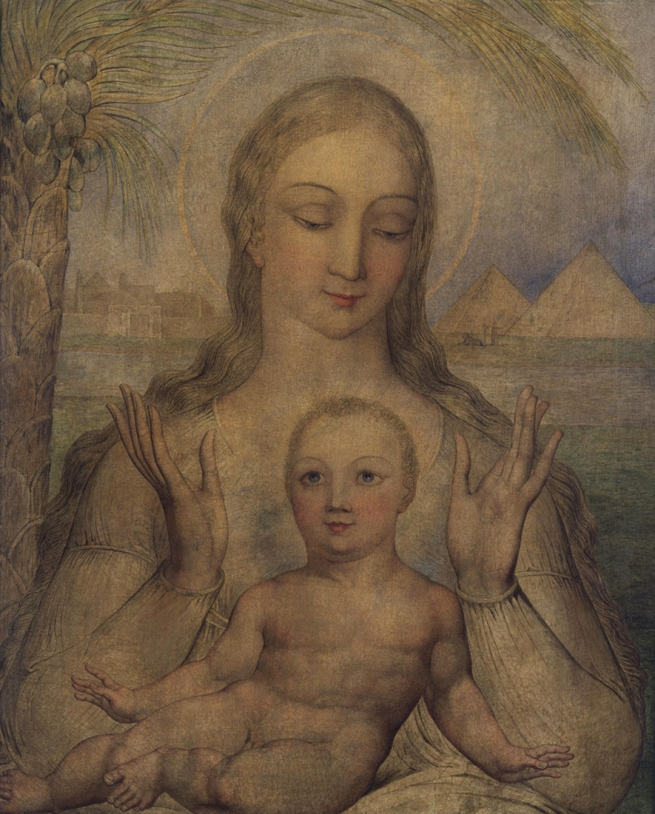 William Blake (British, 1757-1827) 'The Virgin and Child in Egypt' 1810