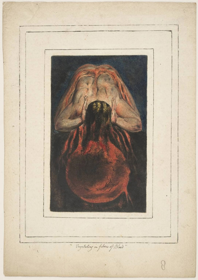 William Blake (British, 1757-1827) 'First Book of Urizen, Plate 15' 1796, c. 1818