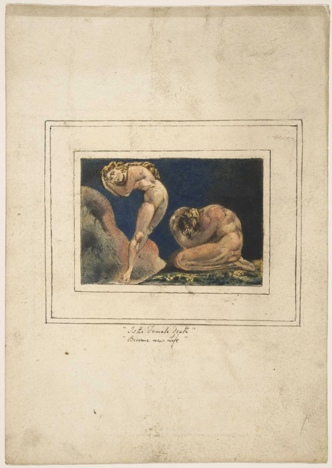 William Blake (British, 1757-1827) 'First Book of Urizen, Plate 17' 1796, c.1818
