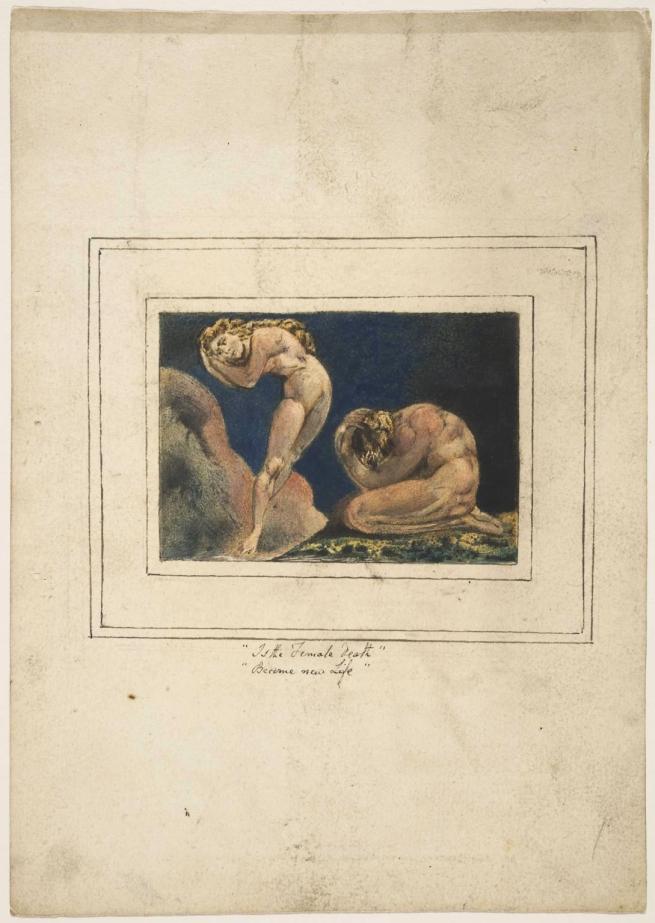 William Blake (British, 1757-1827) 'First Book of Urizen, Plate 17' 1796, c.1818