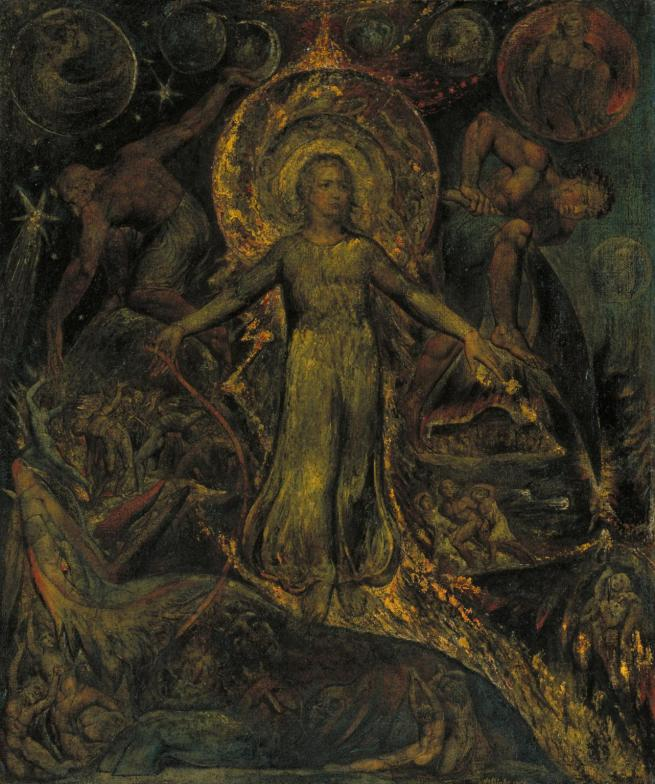 William Blake (British, 1757-1827) 'The Spiritual Form of Pitt Guiding Behemoth' 1805