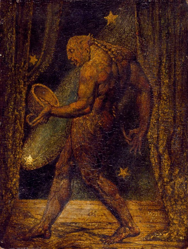 William Blake (British, 1757-1827) 'The Ghost of a Flea' c. 1819