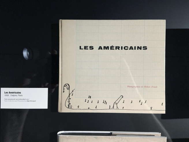 Robert Frank. 'Les Américans' book cover (installation view)