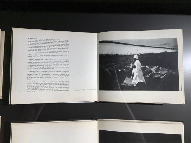 Robert Frank. 'Les Américans' pages (installation view)