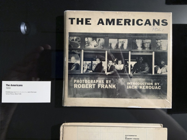 Robert Frank. 'The Americans' book cover (installation view)