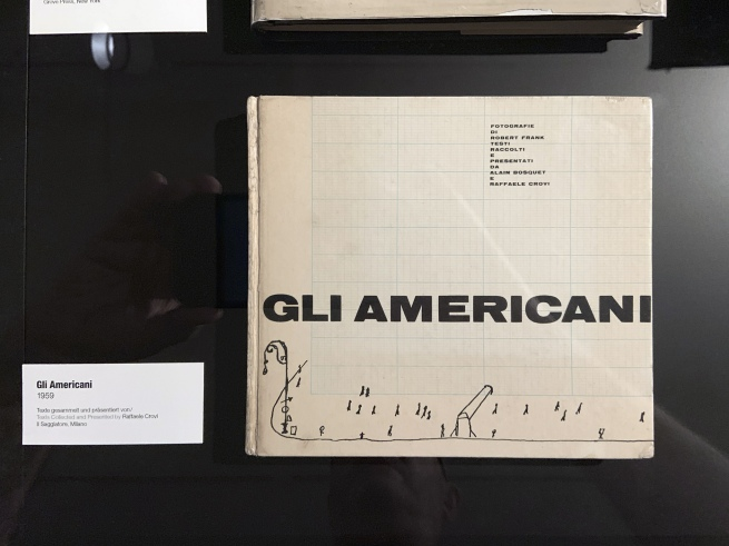 Robert Frank. 'Gli Americani' book cover (installation view)