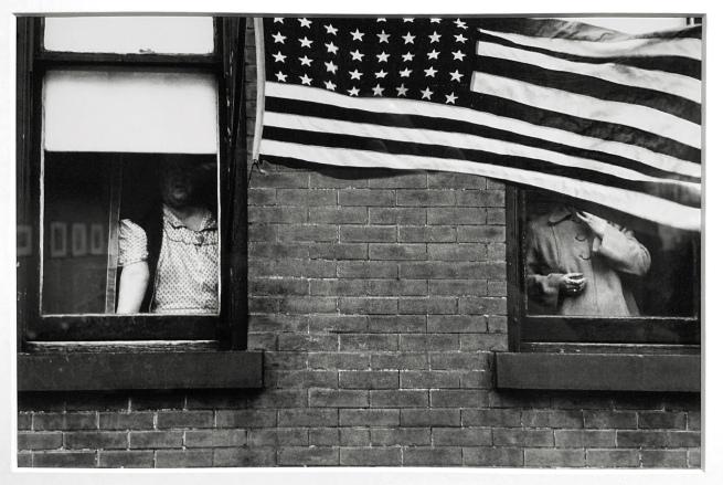 Robert Frank (American, 1924-2019) 'Parade - Hoboken, New Jersey' 1955 (installation view)