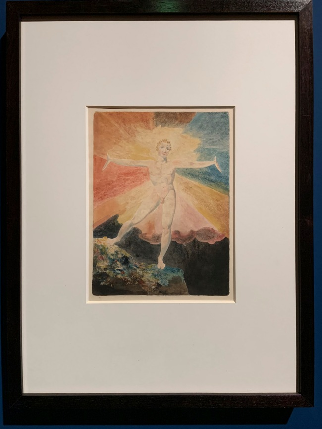 William Blake (British, 1757-1827) 'Albion Rose' c. 1793 (installation view)