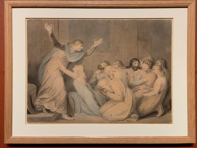 William Blake (British, 1757-1827) 'Joseph Making himself Known to his Brethren' 1784-5 (installation view)