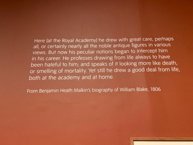 William Blake wall text