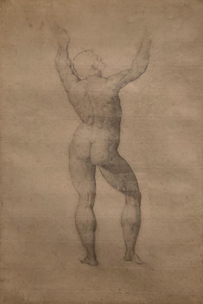William Blake (British, 1757-1827) 'Academy Study' 1779-80 (installation view)