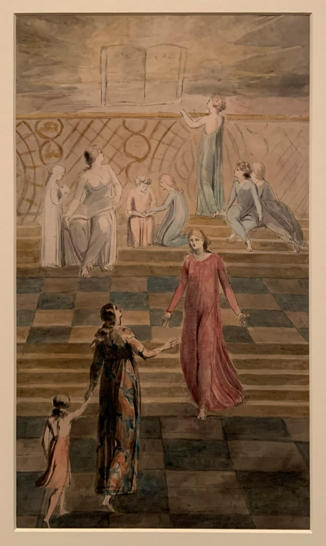 William Blake (British, 1757-1827) 'An Allegory of the Bible' c. 1780-85 (installation view)